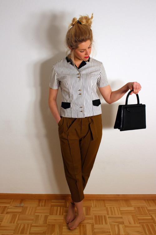 vintage-damen-bluse-gestreift