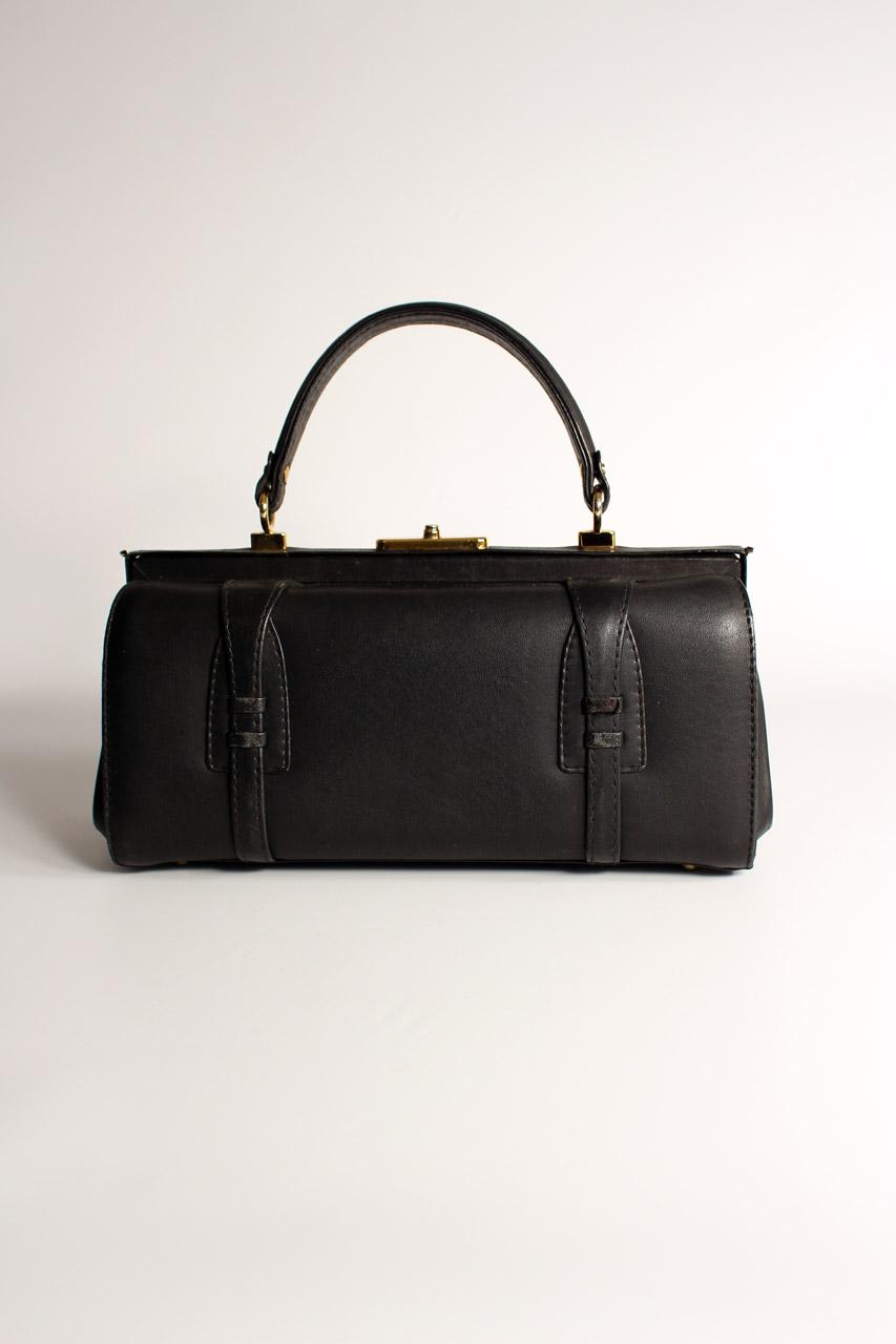 024286133b8cd Vintage Damen Handtasche Schwarz