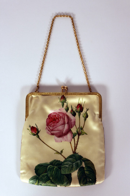 Vintage-Tasche-Blumenmuster