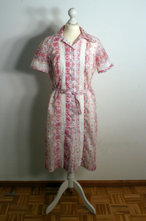 vintage sommerkleid gemustet