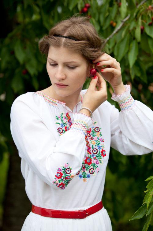 Vintage Sommerbluse Damen