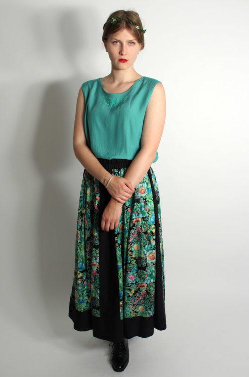 Vintage-Blumenrock-damen