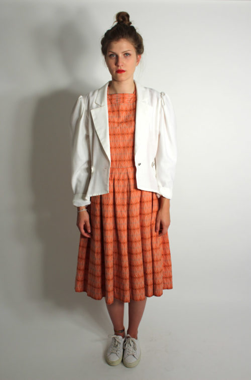 vintage-kleid-orange