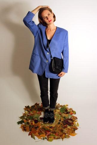 vintage-blazer-mittelblau