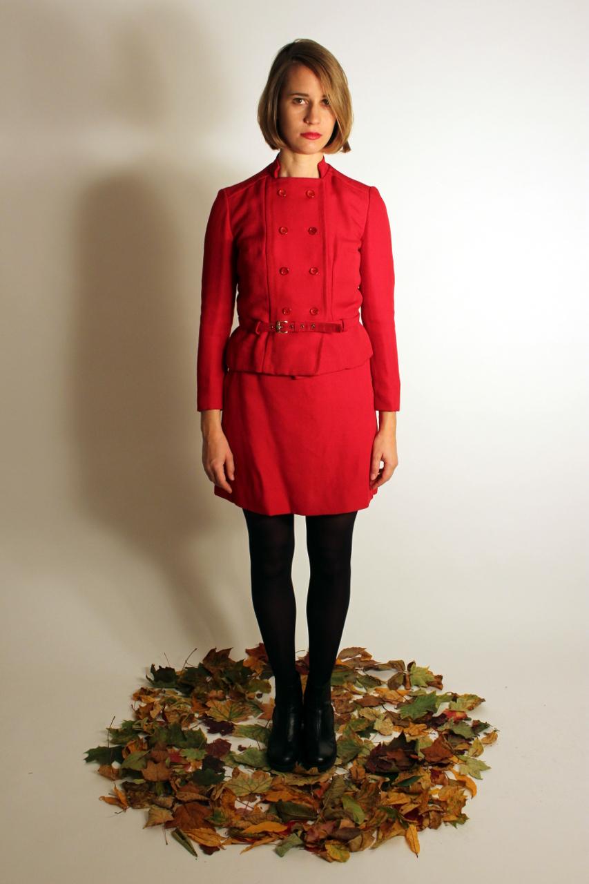 "Twinset 60er Jahre Kostüm Rot ""Peppa"" | Oma Klara"
