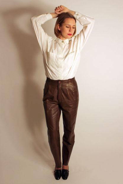 damen-lederhose-braun