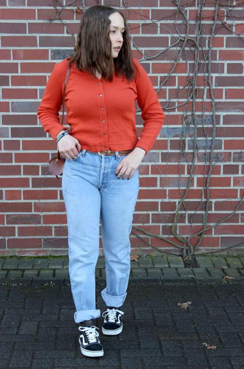 Vintage-Strickjacke-Damen