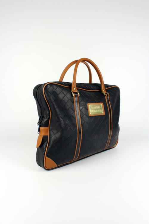 Vintage-Damenhandtasche-Schwarz