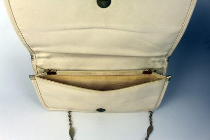 Vintage-Handtasche-weiß