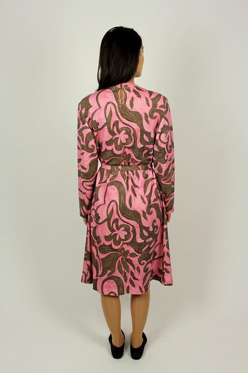 vintage kleid rosa braun lobelia oma klara. Black Bedroom Furniture Sets. Home Design Ideas