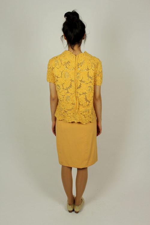 Vintage-Zweiteiler-Gelb