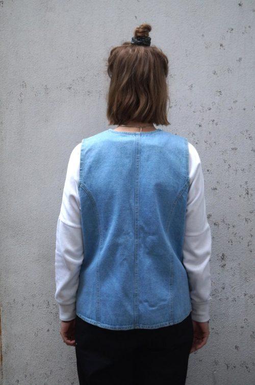 Secondhand-Jeansweste-Blau