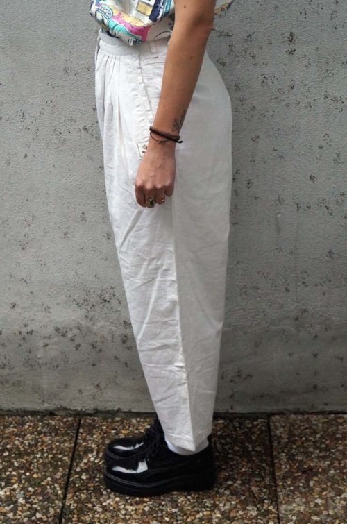 Stoffhose-Damen-Weiß