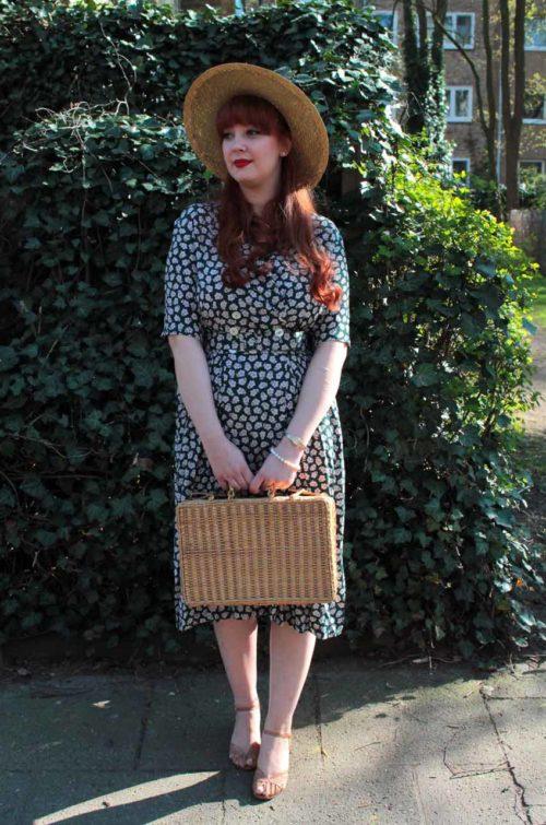 Vintage-Kleid-Blumen