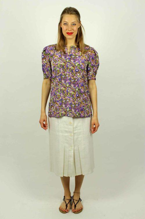 Damenbluse-lila-Sommer