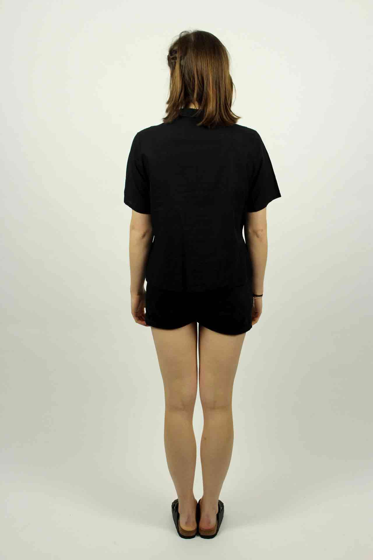 bluse schwarz kurzarm hertha oma klara. Black Bedroom Furniture Sets. Home Design Ideas