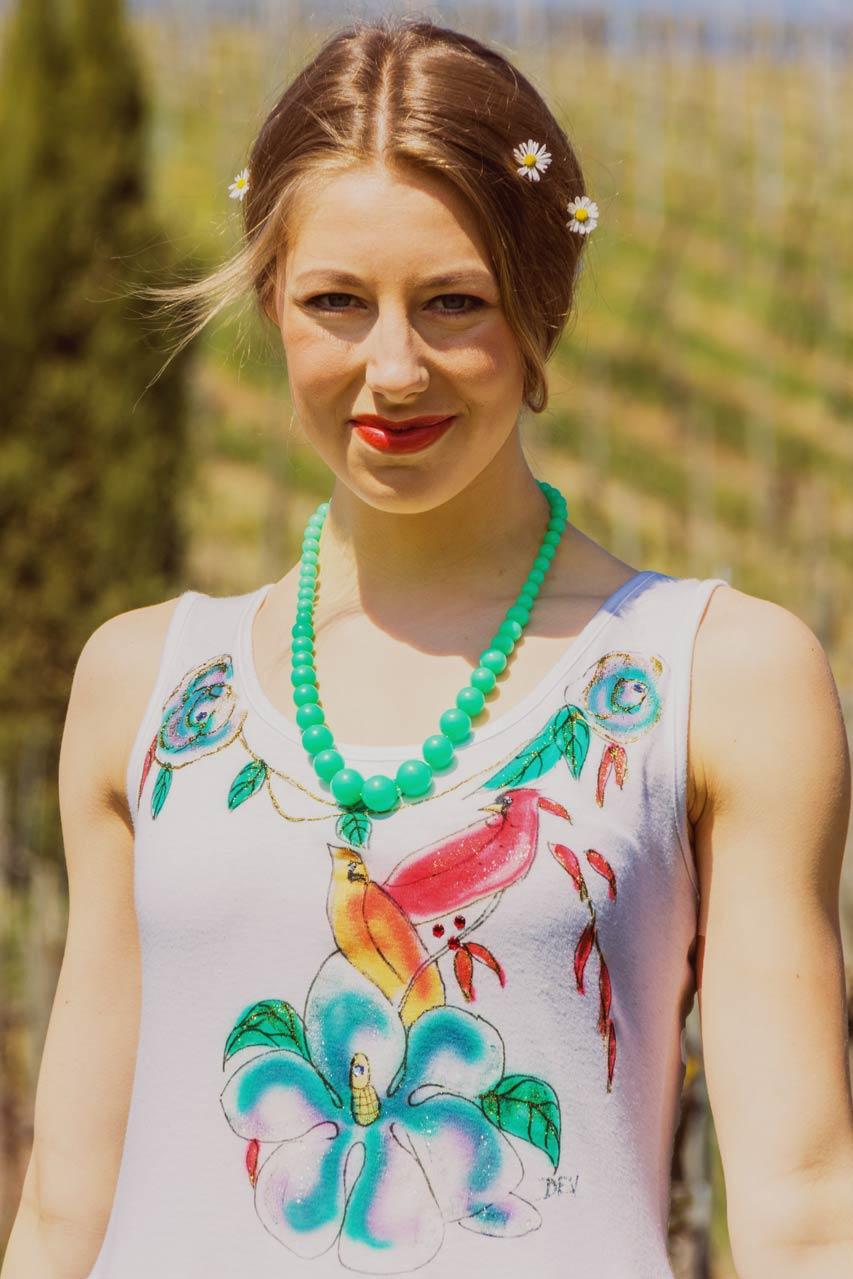 "Kleid, weiß, gemustert ""Sassy"" | Oma Klara"
