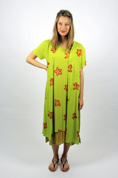 Vintag-Kleid-Blumen