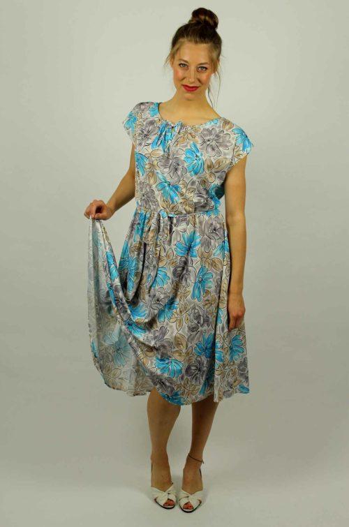Vintage Blumen Kleid