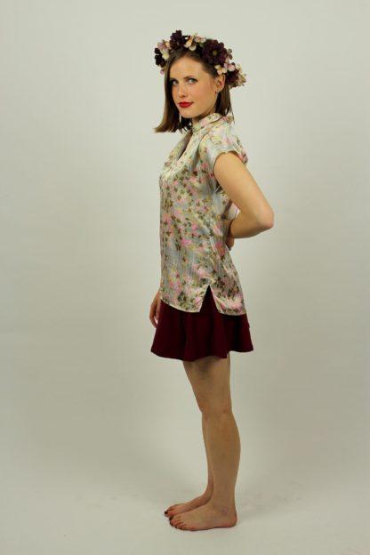 Vintage-Bluse-geblümt