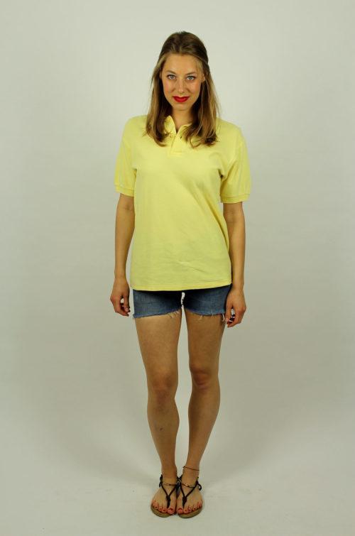 Vintage-Poloshirt-gelb