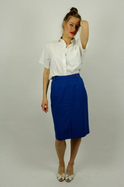 Vintage-Stiftrock-blau