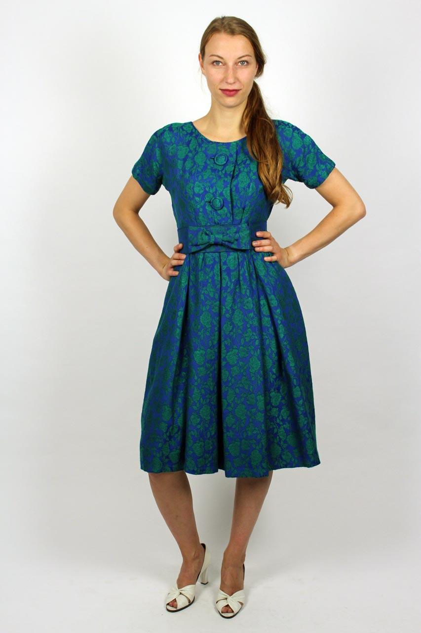 "Kleid Blau Grün Muster ""Cindy"" | Oma Klara"