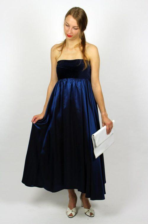 Abendmode Kleid Blau Maxi