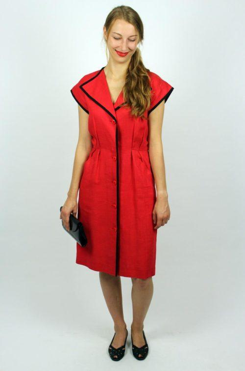 Designerkleid Yves Saint Laurent Rot
