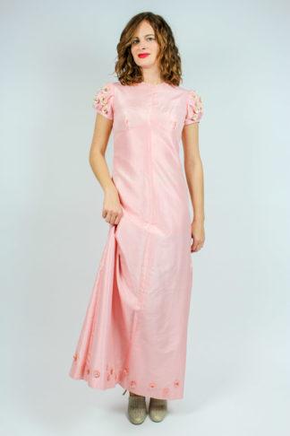 Vintage Brautkleid rosa
