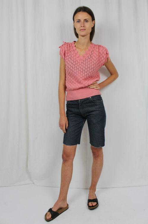Vintage Strickshirt rosa