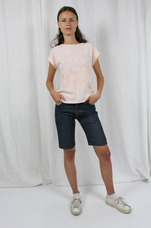 Vintage-shirt rosa