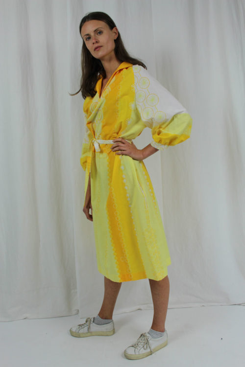 vintage dress citrus