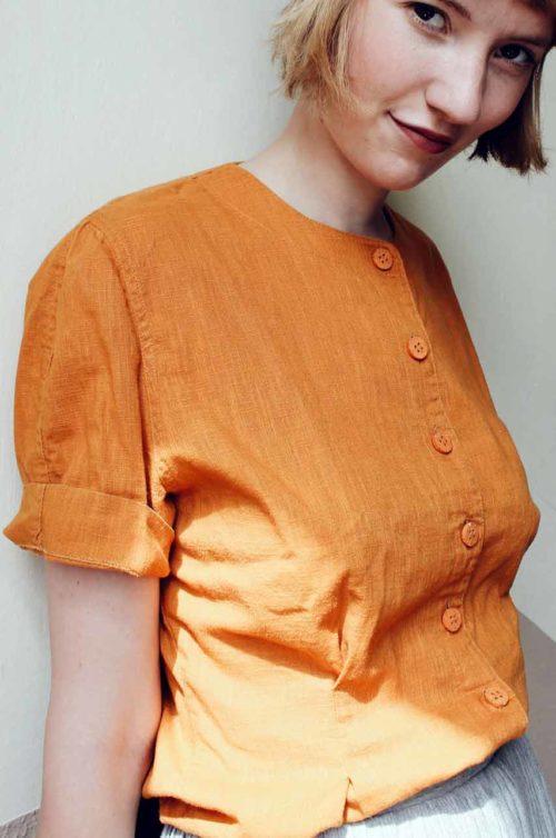 Bluse orange Secondhand