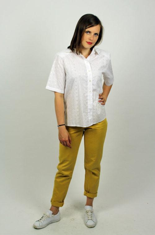 Highwaist Jeans Senfgelb