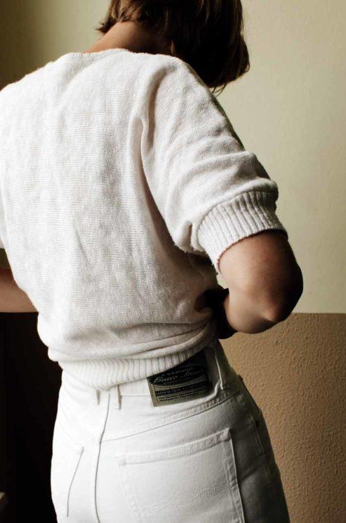 Highwaist Jeans weiß