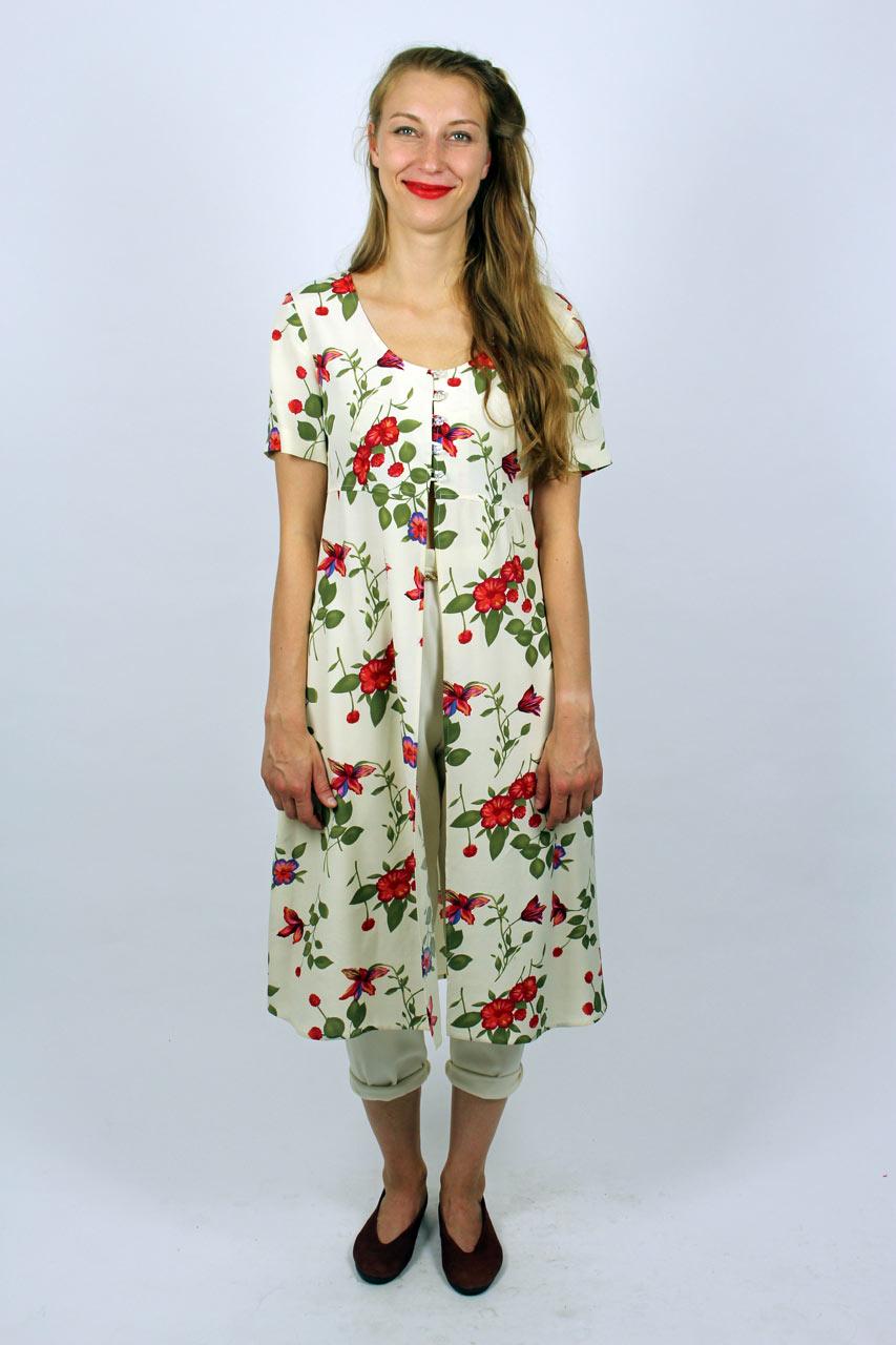 "Kurzarm Kleid Blumenmuster ""Ilenia""   Oma Klara"