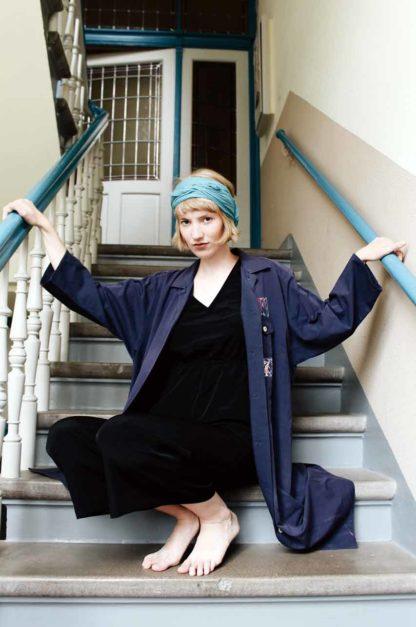 Maxikleid blau Oversized