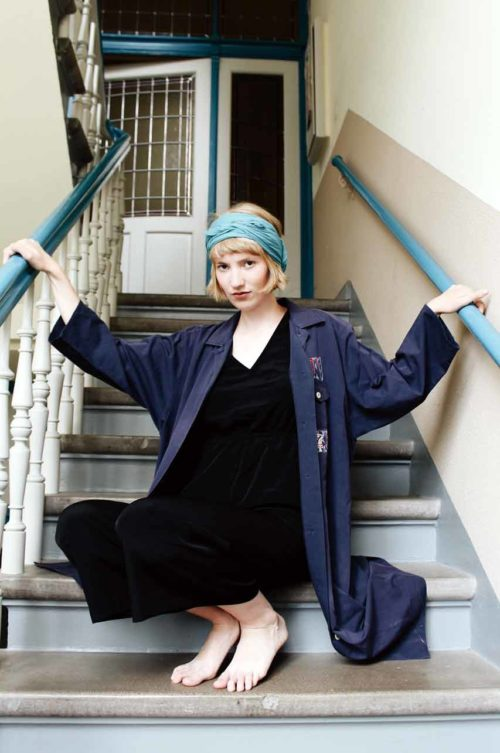 Maxikleid blau Oversized