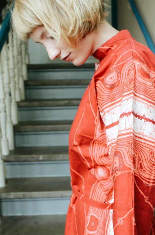Sommerkleid Kimono Look