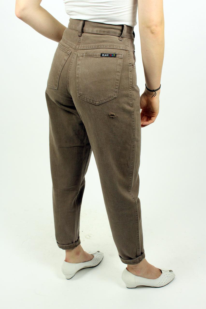 high waist jeans braun robin oma klara. Black Bedroom Furniture Sets. Home Design Ideas