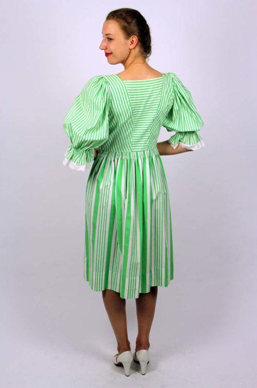 Trachtenkleid grün weiß
