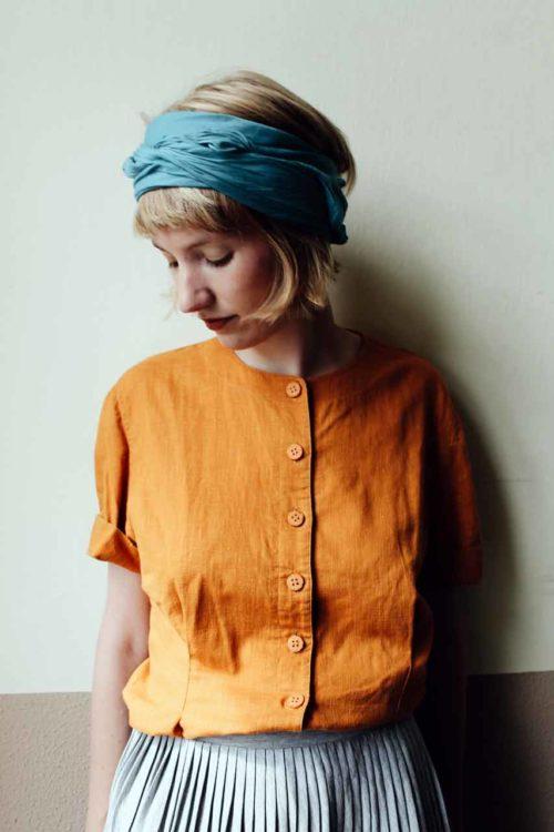 Vintage Bluse orange