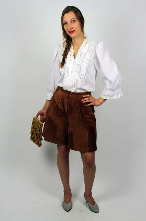 Vintage Bluse weiß Rüschen
