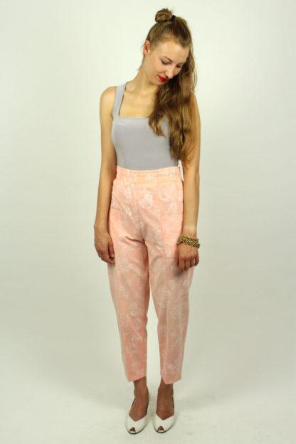 Vintage-Damenhose-Hoher-Bund