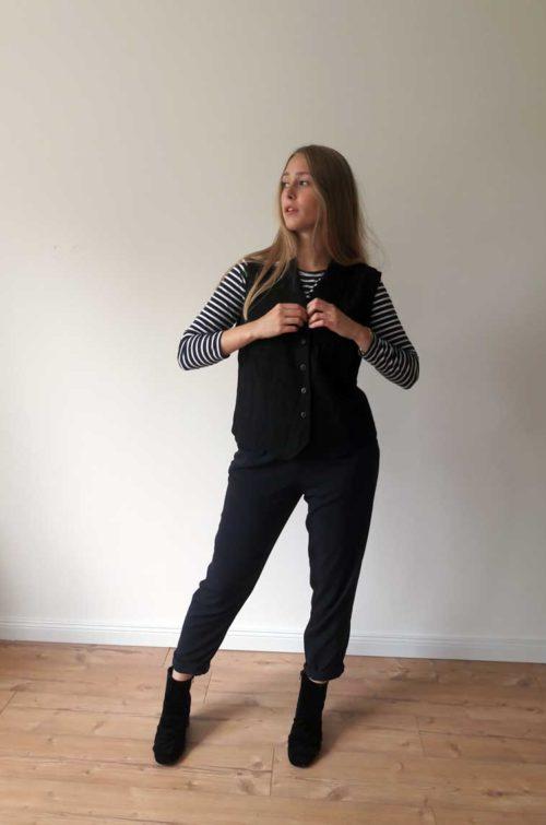 Vintage Damenoberteil schwarz