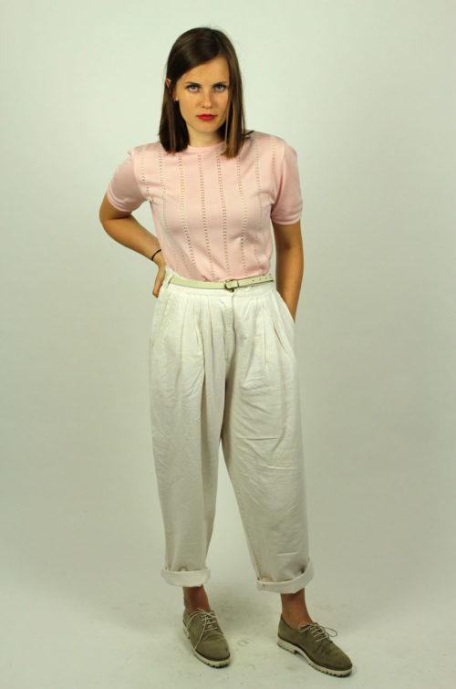 Vintage-Damenshirt-Rosa