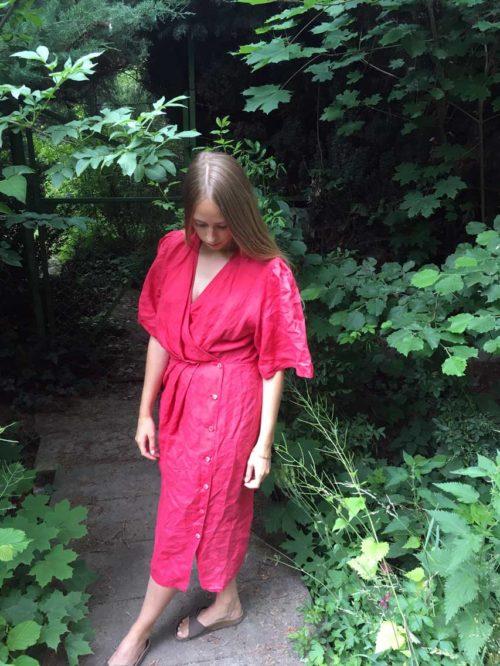 Wickelkleid in rot online