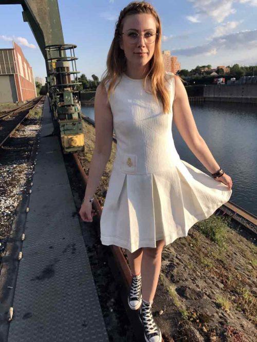 Kleid mit Faltenrock Vintage