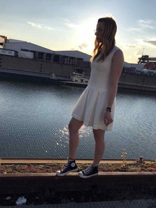 Kleid kurzarm Second Hand